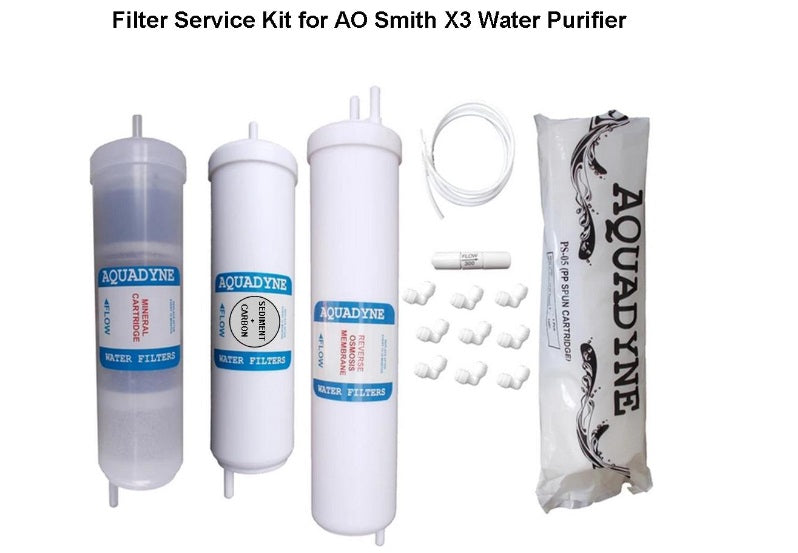 RO Filter Service Kit for AO Smith X3 Water Purifiers