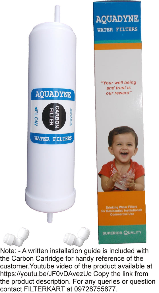 Carbon Filter Quickfit type for Aquaguard/Kent R.O Systems for removing chlorine/chloramine/fluoride/bad odour from feed water