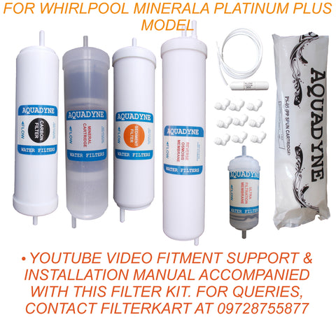 RO Service Kit for Whirlpool Minerala Platinum Plus Model with Installation guide and Youtube video installation support, 1- Piece, White