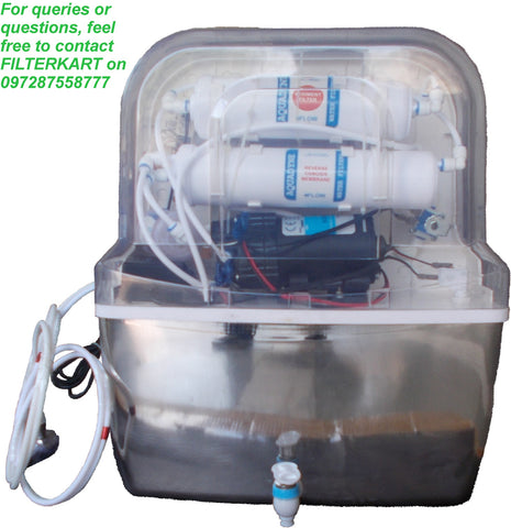 Aquadyne RO + UV + UF Purifier With Stainless Steel Tank & Stainless Steel UV Chamber