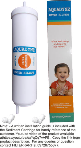Aquadyne Inline Sediment Filter Quickfit type for Service of Aquagrand/Aquafresh RO Systems