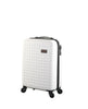 "Hardside 4-wheels suitcase White (20"") 12144PC"