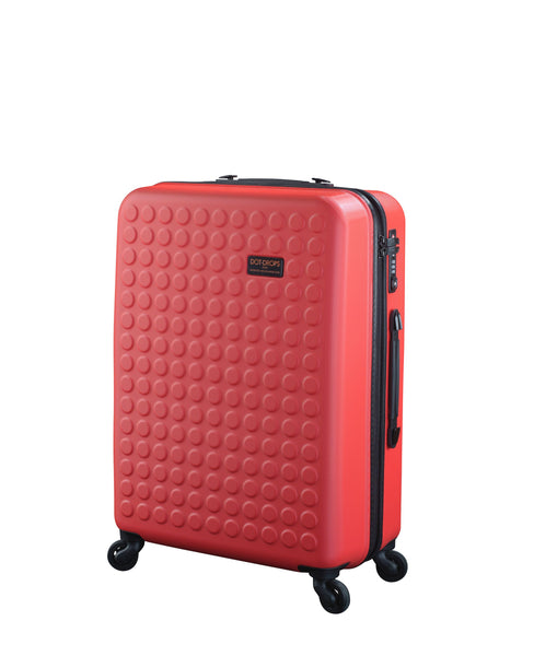 "Hardside 4-wheels suitcase Red (24"") 12145PC"