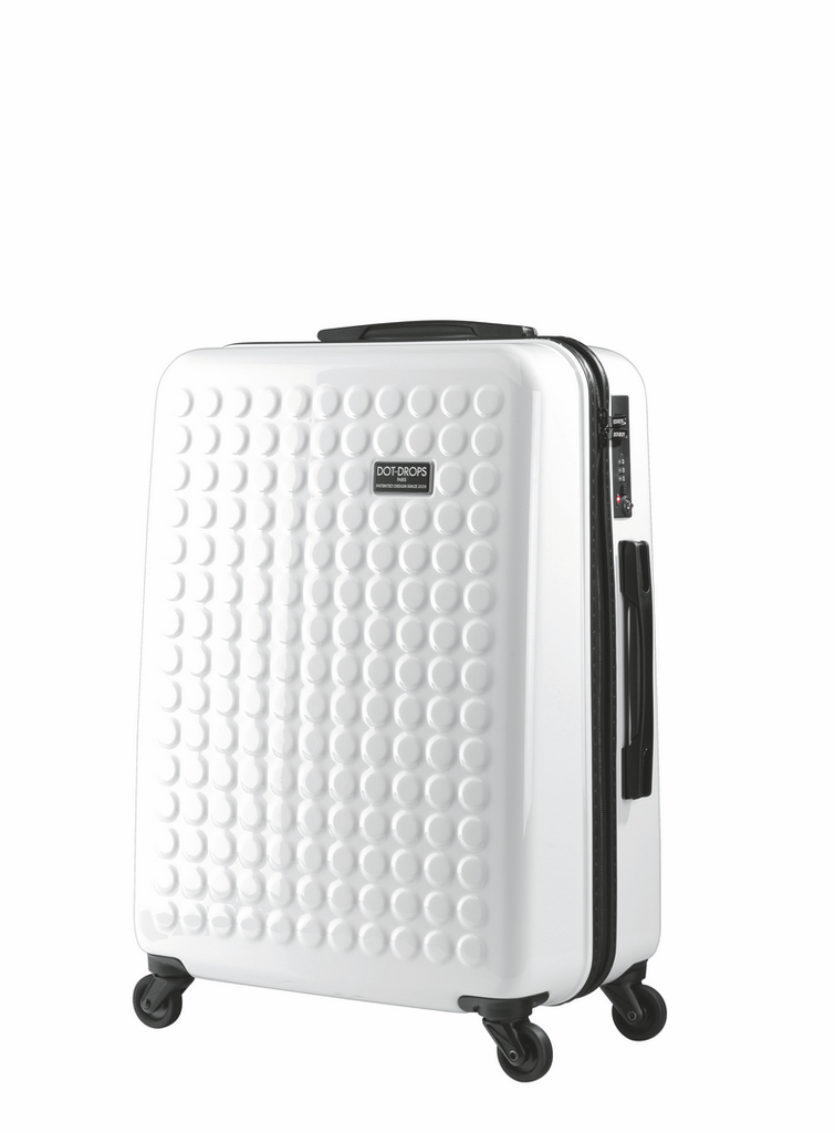 "HARDSIDE 4-WHEELS SUITCASE WHITE (25"" UPRIGHT) 12325PC"