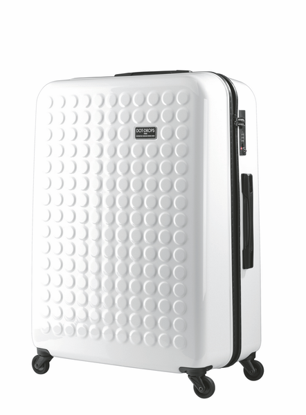 "HARDSIDE 4-WHEELS SUITCASE WHITE (29"" UPRIGHT) 12326PC"