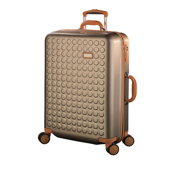 "Hardside 4-wheels suitcase Champagne (24"") 15125PC"