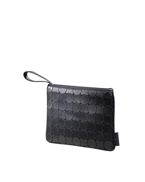 Clutch bag Black Brushed 16115