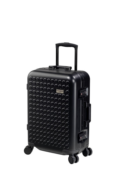 "Hardside 4-wheels suitcase Black (22"") 16124PC"