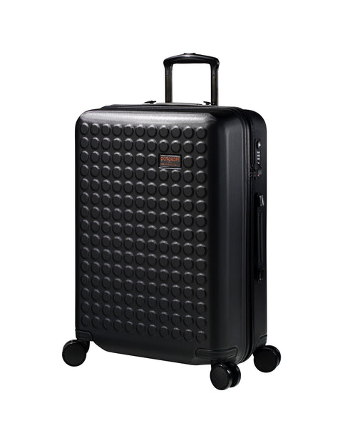 "Hardside 4-wheels suitcase Black (24"") 22145PC"