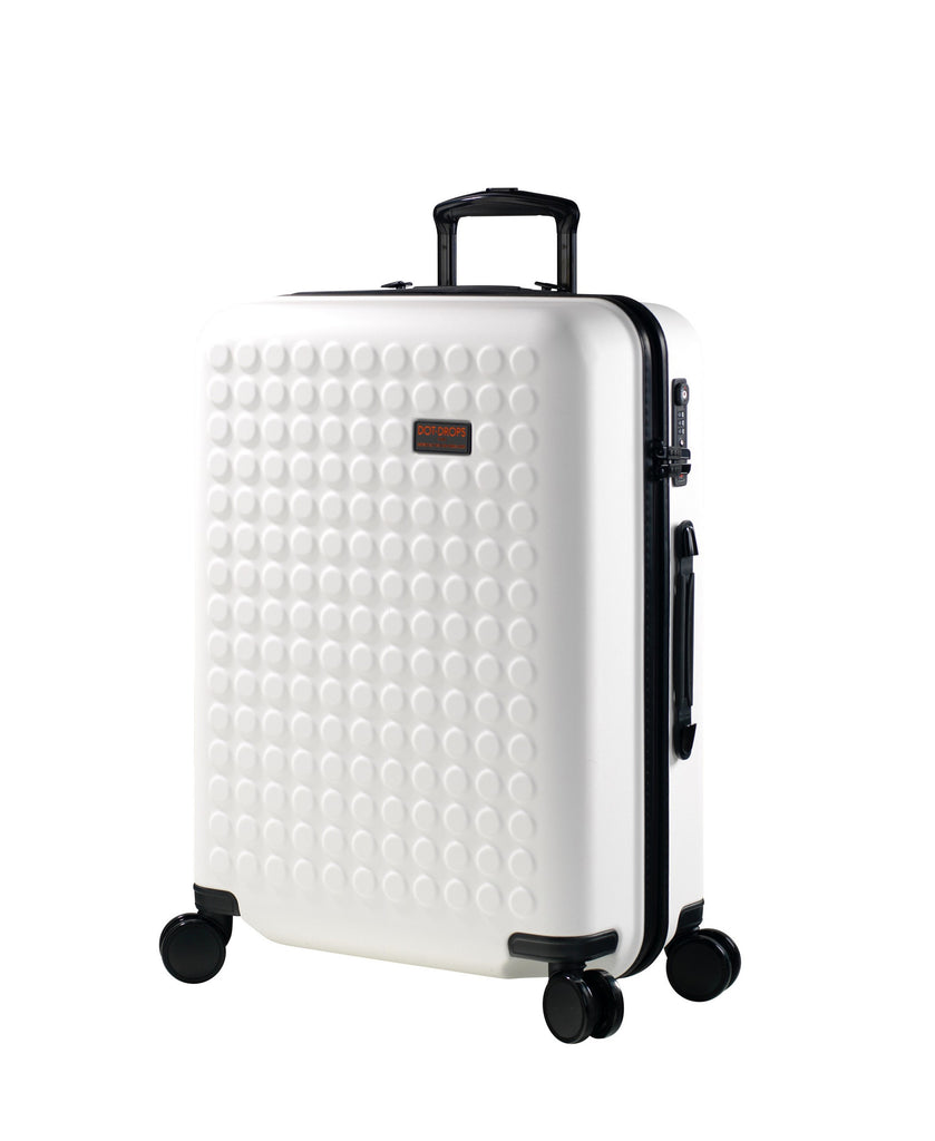 "Hardside 4-wheels suitcase White (24"") 22145PC"