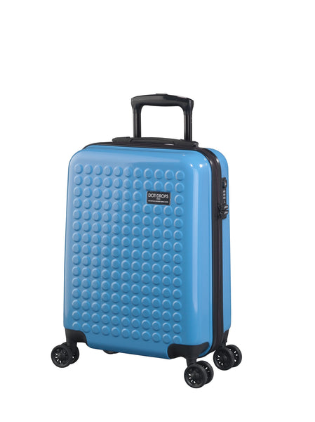 "HARDSIDE 4-WHEELS SUITCASE BLUE (22"" UPRIGHT) 22324PC"