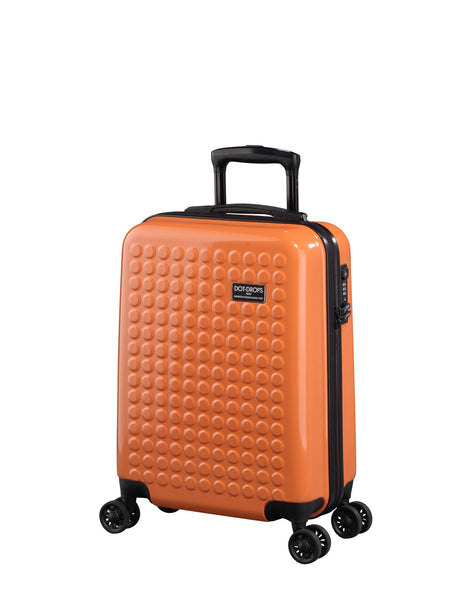"HARDSIDE 4-WHEELS SUITCASE ORANGE (22"" UPRIGHT) 22324PC"