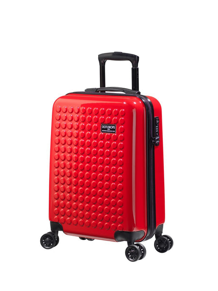"HARDSIDE 4-WHEELS SUITCASE RED (22"" UPRIGHT) 22324PC"