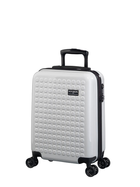 "HARDSIDE 4-WHEELS SUITCASE WHITE (22"" UPRIGHT) 22324PC"