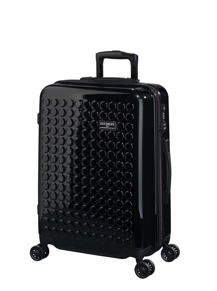 "HARDSIDE 4-WHEELS SUITCASE BLACK (25"" UPRIGHT) 22325PC"