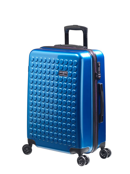 "HARDSIDE 4-WHEELS SUITCASE NEW BLUE (25"" UPRIGHT) 22325PC"
