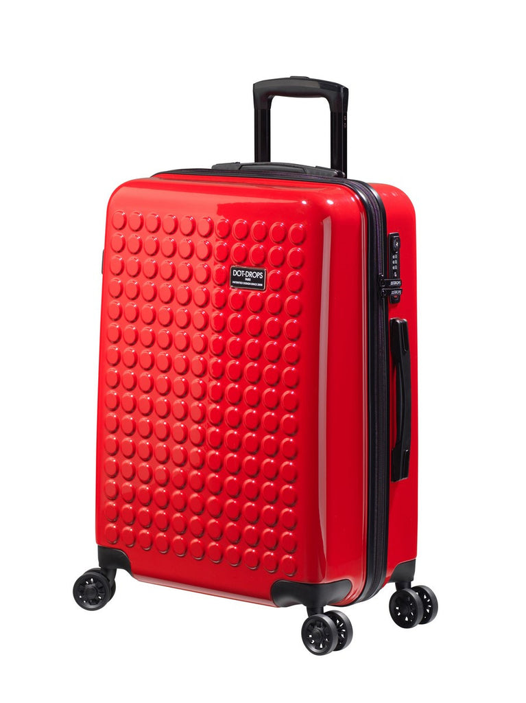"HARDSIDE 4-WHEELS SUITCASE RED (25"" UPRIGHT) 22325PC"