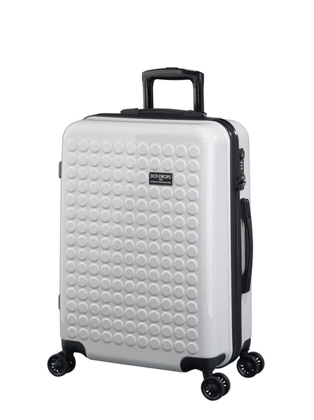 "HARDSIDE 4-WHEELS SUITCASE WHITE (25"" UPRIGHT) 22325PC"