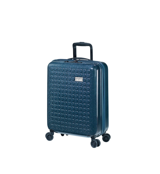"HARDSIDE 4-WHEELS SUITCASE DEEP BLUE (22"" UPRIGHT) 34124PC"