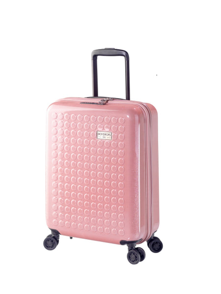 "HARDSIDE 4-WHEELS SUITCASE GLITTER PINK (22"" UPRIGHT) 34124PC"