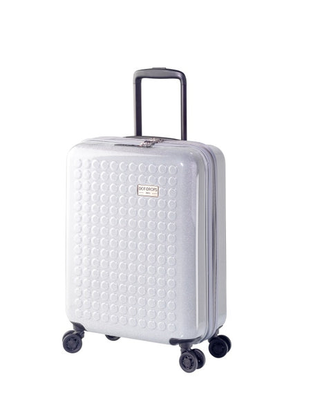 "HARDSIDE 4-WHEELS SUITCASE GLITTER SILVER (22"" UPRIGHT) 34124PC"