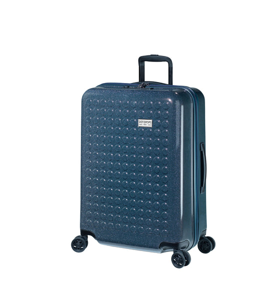 "HARDSIDE 4-WHEELS SUITCASE GLITTER DEEP BLUE (24"" UPRIGHT) 34125PC"