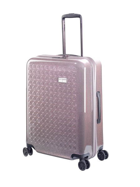"HARDSIDE 4-WHEELS SUITCASE GLITTER GREY (24"" UPRIGHT) 34125PC"