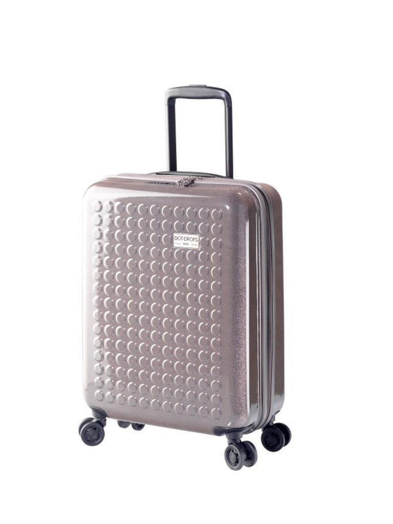 "HARDSIDE 4-WHEELS SUITCASE GLITTER GREY (22"" UPRIGHT) 34124PC"