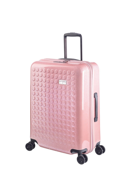 "HARDSIDE 4-WHEELS SUITCASE GLITTER PINK (24"" UPRIGHT) 34125PC"