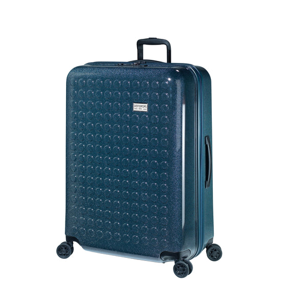 "HARDSIDE 4-WHEELS SUITCASE GLITTER DEEP BLUE (28"" UPRIGHT) 34126PC"
