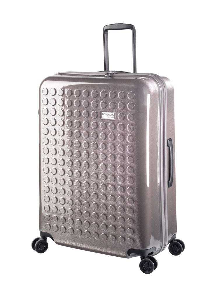 "HARDSIDE 4-WHEELS SUITCASE GLITTER GREY (28"" UPRIGHT) 34126PC"