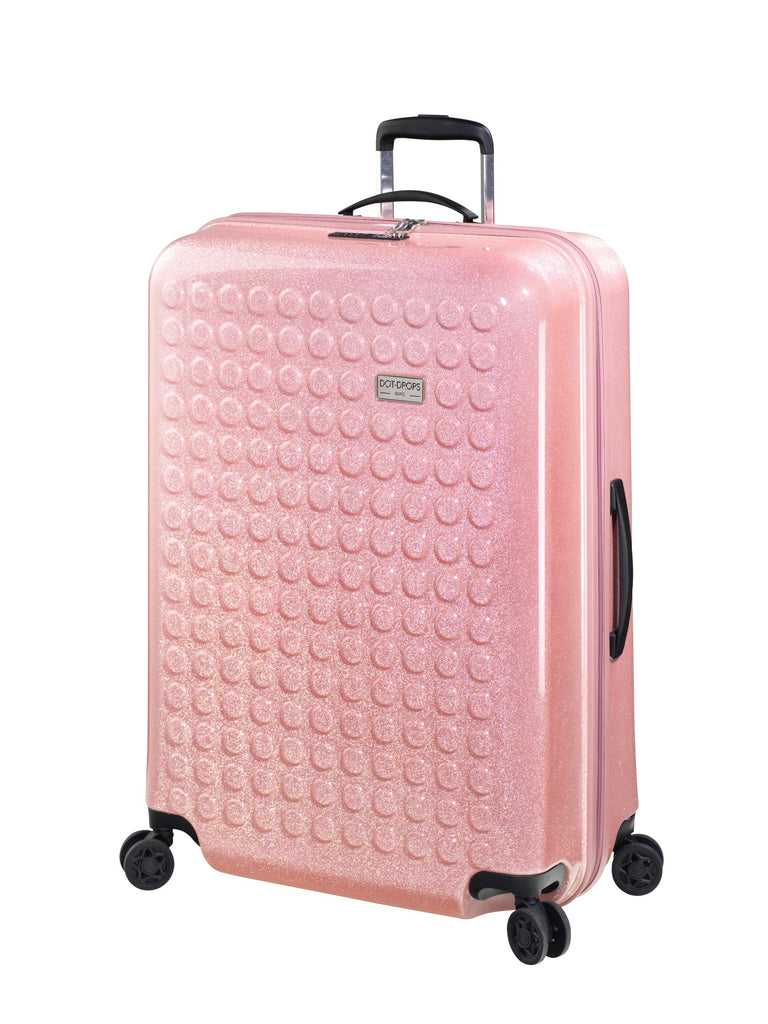 "HARDSIDE 4-WHEELS SUITCASE GLITTER PINK (28"" UPRIGHT) 34126PC"