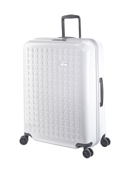 "HARDSIDE 4-WHEELS SUITCASE GLITTER SILVER (28"" UPRIGHT) 34126PC"