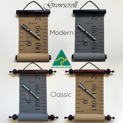 Aussie Made Wooden Canvas Growth Charts