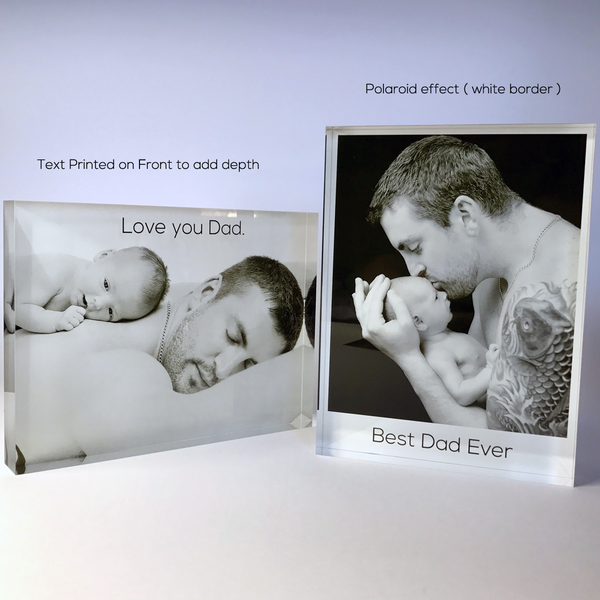 Father gift acrylic photo block print
