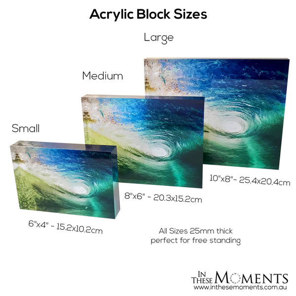Acrylic Photo Block Sizes