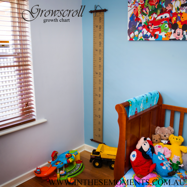 Growscroll Growth Chart in Boys Room