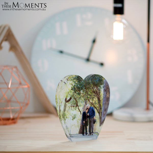 Heart Acrylic Photo Block
