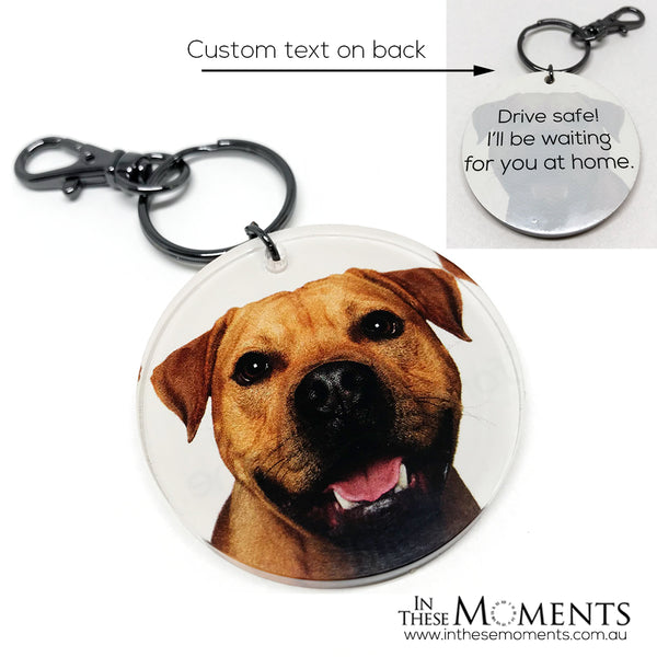 Personalised Double Sided Photo Keyring