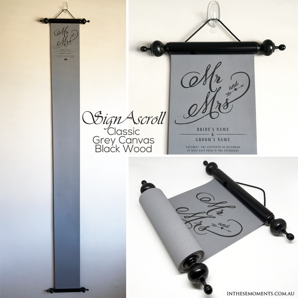 SignAscroll Wedding & Birthday guest book alternative
