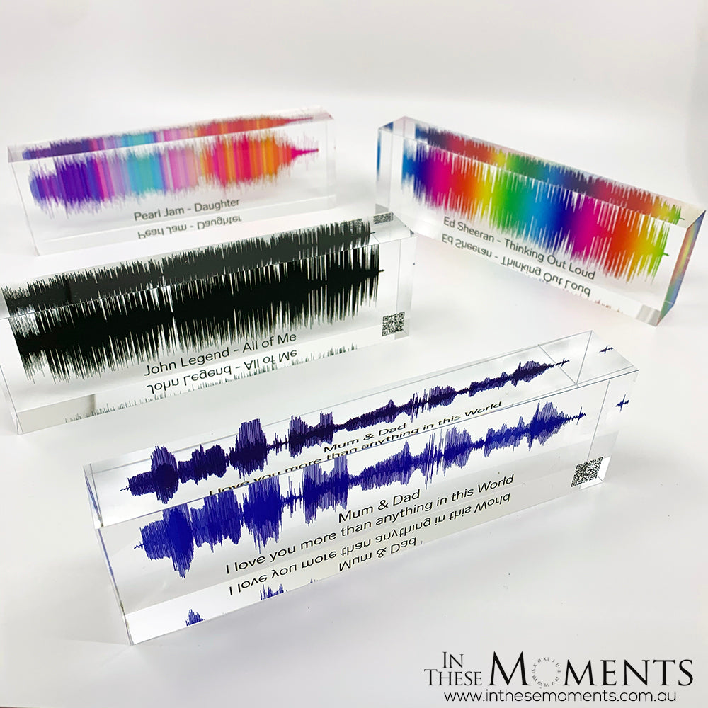 Acrylic Sound Wave Personalised