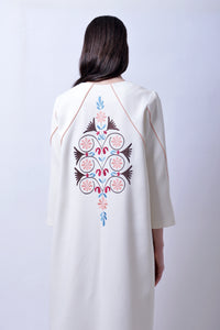 Coat with Machine Embroidery