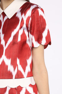 A-Line Point Collar Dress