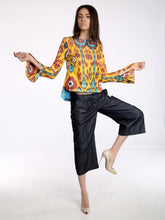 Flair Sleeve Ikat Top