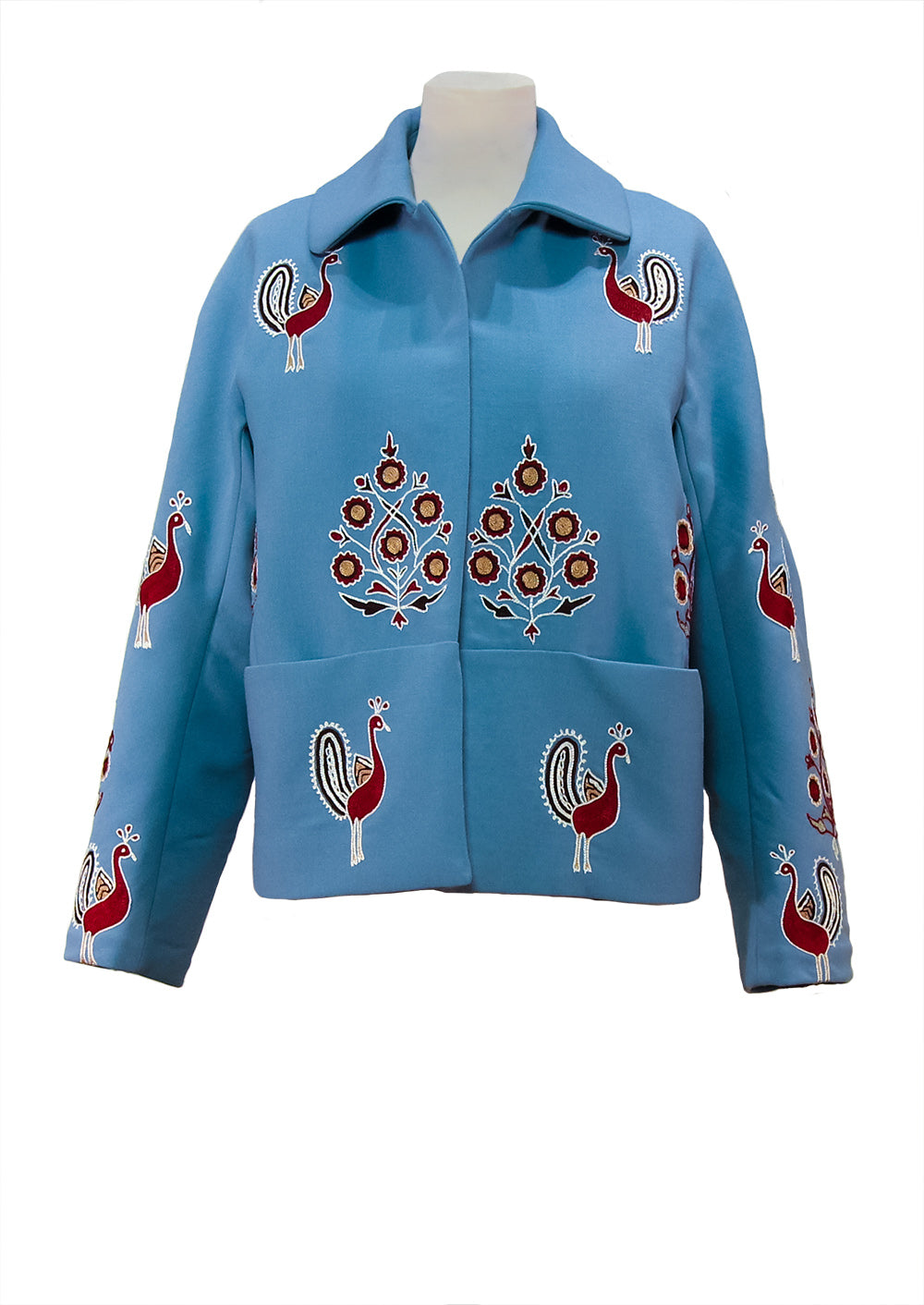Wool Jacket with hand embroidery