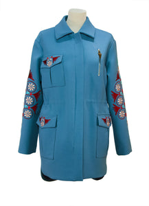 Parka with Machine Embroidery