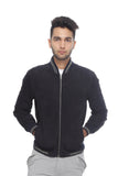The Suede Bomber- Dark Navy