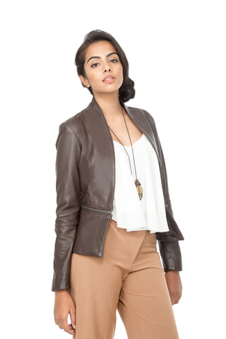 Nappa leather Dark brown Jacket