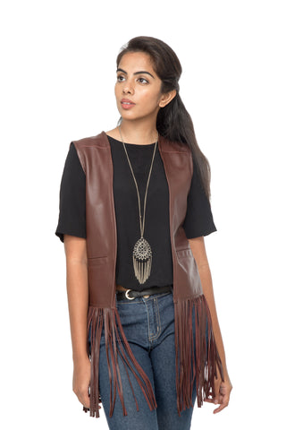 Marsala coloured vest