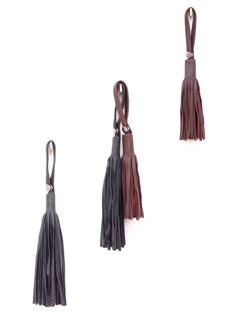 Leather fringe tassels